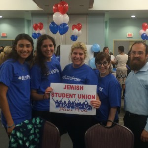Jewish Student Union Executive Board Members with the Rabbi.
