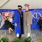 Connor North with Brookdale President at graduation