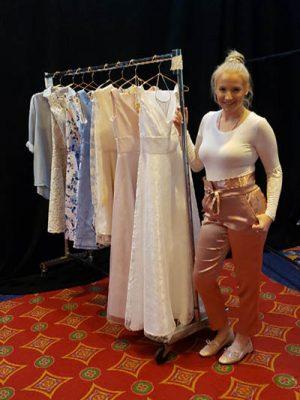 Melanie Wexler gets ready backstage at the 2019 Atlantic City Fashion Show